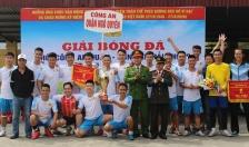 Giải bóng đá Khối Công an quận - CATP: Đội tuyển CAQ Ngô Quyền đoạt giải Nhất