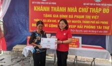 Hội Chữ thập đỏ thành phố:  Khánh thành Nhà Chữ thập đỏ cho bà Phạm Thị Việt,  ở Thôn 7, xã Liên Khê, huyện Thủy Nguyên