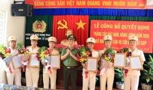 Phòng Xây dựng phong trào bảo vệ an ninh Tổ quốc (PV05) – CATP: Công bố quyết định bổ nhiệm lại, thăng cấp bậc hàm, nâng bậc lương