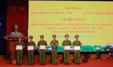 Bế giảng lớp tập huấn nghiệp vụ Cơ sở dữ liệu quốc gia về dân cư cho lực lượng CSQLHC về TTXH