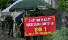 Huyện An Dương:  2 chốt kiểm soát dịch tăng cường kiểm tra y tế đối với người khu vực Hải Dương đi qua