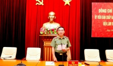 Thứ trưởng Bộ Công an Trần Quốc Tỏ làm việc với CATP Hải Phòng
