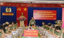 Thứ trưởng Bộ Công an, Thiếu tướngTrần Quốc Tỏ làm việc với Công an tỉnh Quảng Ninh
