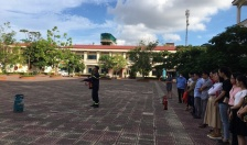 Tuyên truyền về công tác PCCC tại Trường Tiểu học Trại Chuối
