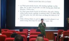 Công an quận Lê Chân: Huấn luyện nghiệp vụ PCCC và cứu nạn, cứu hộ năm 2020