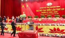 Đại hội Đảng bộ tỉnh Quảng Ninh lần thứ XV, nhiệm kỳ 2020- 2025:  Bầu 21 đại biểu chính thức và 2 đại biểu dự khuyết đi dự Đại hội Đại biểu toàn quốc lần thứ XIII của Đảng