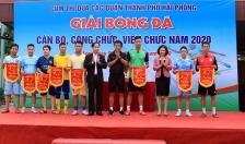 8 đội tuyển tham gia giải bóng đá cán bộ, công chức, viên chức cụm thi đua