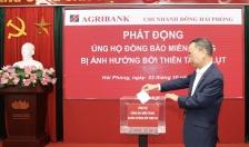Agribank chi nhánh Đông Hải Phòng: Ủng hộ đồng bào miền Trung 90 triệu đồng