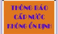 CÔNG TY CP CẤP NƯỚC HẢI PHÒNG THÔNG BÁO NGÀY 25/5/2021