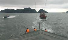 Hải đội 2, Bộ đội biên phòng Hải Phòng: Kịp thời cứu hộ tàu cá bị hỏng máy trôi dạt trên biển
