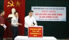 Sở NN&PTNN & Công đoàn ngành NN&PTNN: Quyên góp, ủng hộ đồng bào miền Trung trên 322 triệu đồng