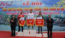 Xã Hữu Bằng 3 năm liền lên ngôi vô địch lễ hội đua thuyền rồng Kiến Thụy