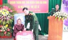 Ban CHQS huyện An Lão khánh thành nhà tình nghĩa tặng đối tượng chính sách