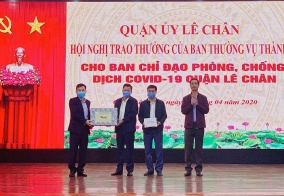 Ban Thường vụ Thành ủy trao thưởng Ban Chỉ đạo phòng chống dịch Covid-19 quận Lê Chân