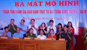 """Ủy ban MTTQ Việt Nam phường Phù Liễn (quận Kiến An): Ra mắt mô hình """"Toàn dân tham gia bảo đảm trật tự an toàn giao thông"""""""