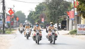 Đội CSGT-TT Công an huyện An Dương nỗ lực đảm trật tự an toàn giao thông Tết Nguyên đán Tân Sửu 2021