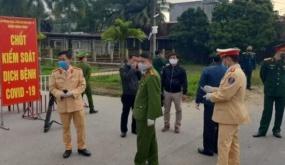Tăng cường kiểm soát chặt chẽ công dân ra, vào thành phố tại vị trí tiếp giáp tỉnh Hải Dương