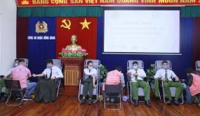 85 cán bộ, đoàn viên thanh niên Công an quận Hồng Bàng tham gia hiến máu tình nguyện