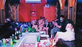 Tạm giữ 4 đối tượng về hành vi tổ chức sử dụng, sử dụng trái phép chất ma túy tại quán karaoke NEW 5 Sao (An Dương)